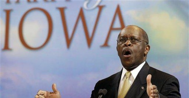Herman Cain encouraged by 5th place in Iowa poll