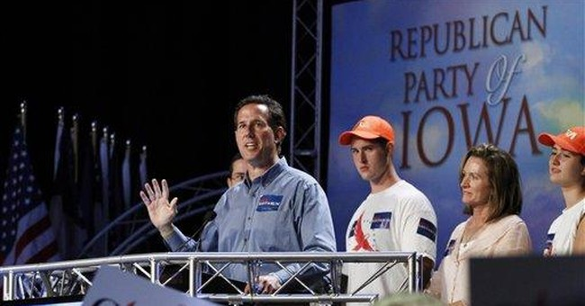 Santorum says no retreat on pushing social issues