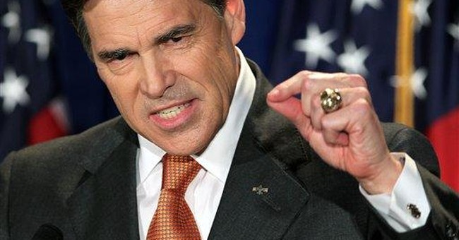 Texas Gov. Perry jumps into 2012 Republican race