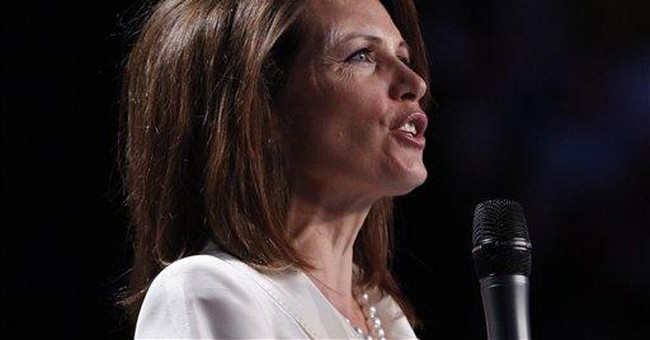 Bachmann touts her social conservative views
