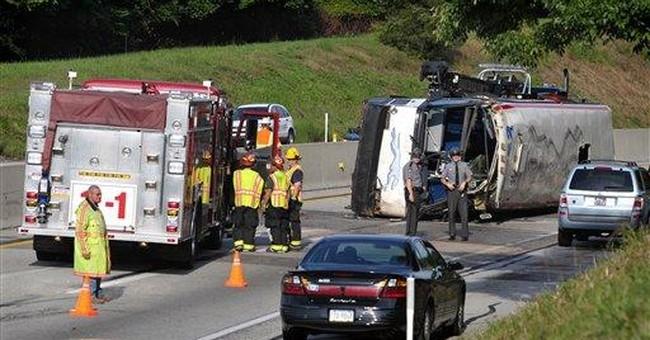 Greyhound, Pa. police probing turnpike bus crash
