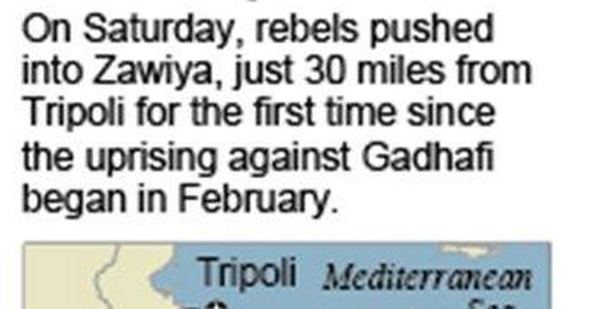 Libyan rebels try to isolate Tripoli, Gadhafi