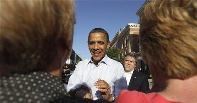 Obama has a big bullhorn for the political trail