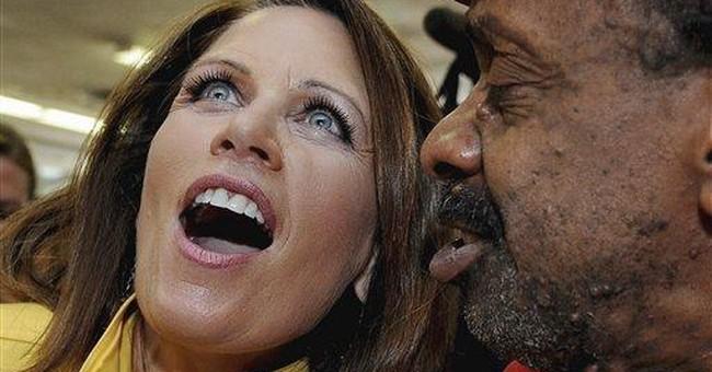 Bachmann wishes Elvis happy birthday on death date