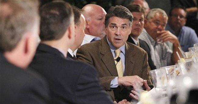 Perry expresses doubts on manmade global warming