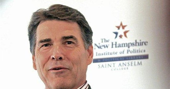 Protesters greet GOP candidate Perry in NH