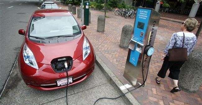 Charging stations move electric cars out of city