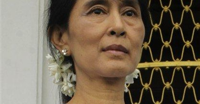 Myanmar's Suu Kyi meets with new president