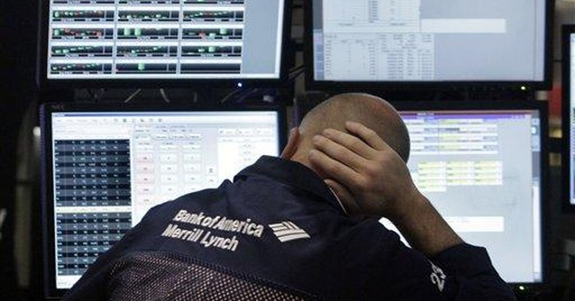 Stocks fall as traders worry over weekend