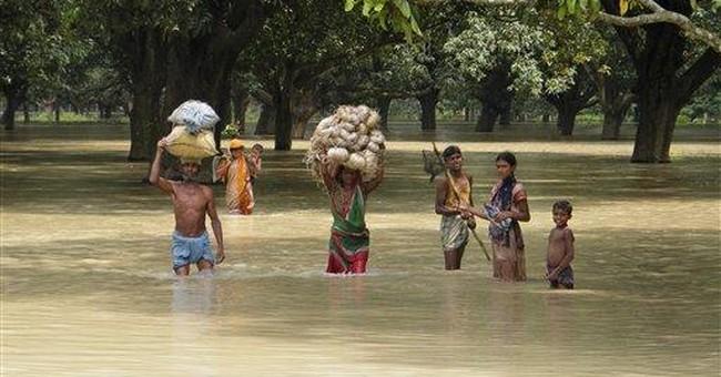 Flooding in eastern India leaves dozens dead