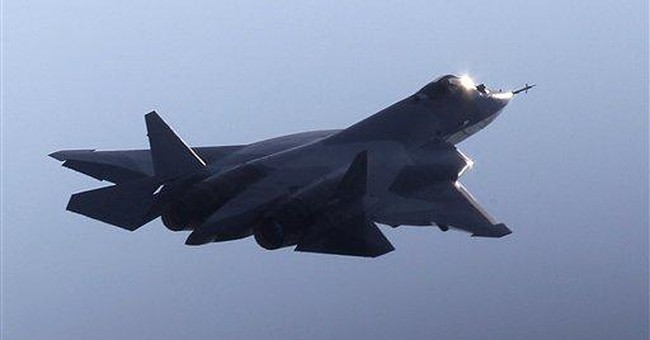 Russian stealth fighter aborts takeoff at air show