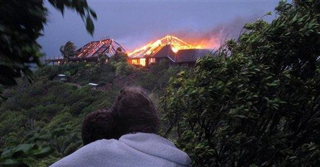 Kate Winslet escapes fire at Branson's island home