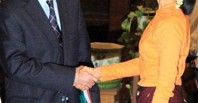 Myanmar's Suu Kyi calls UN envoy visit encouraging