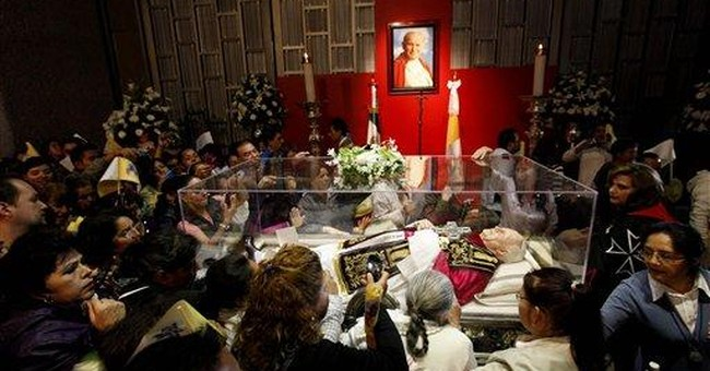 Pope John Paul II's relics displayed in Mexico