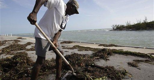 Small Bahamas islands face big clean up from Irene