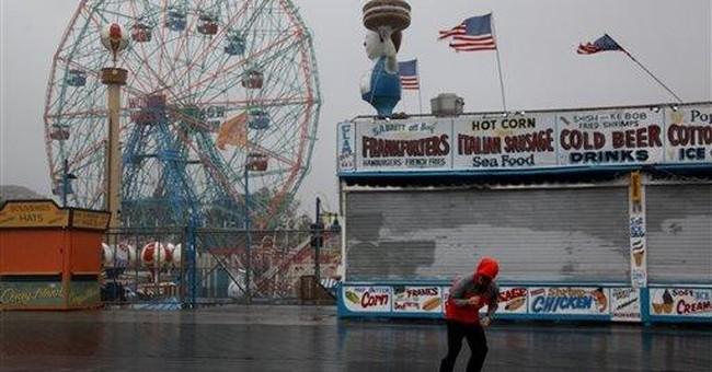 New York-bound storm draws out media's big guns