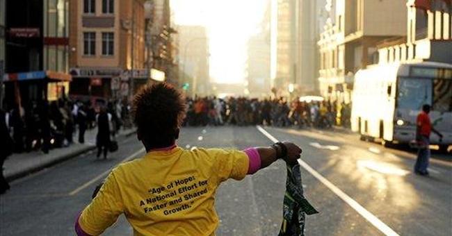 Violent protests signal power struggle in SAfrica