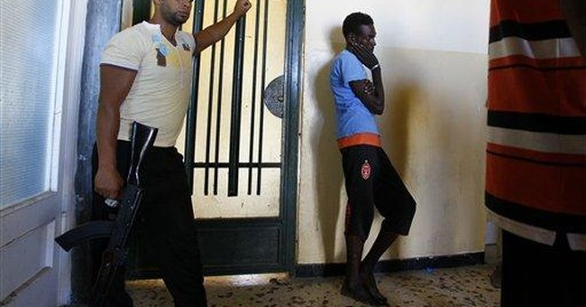 Libyan rebels round up black Africans