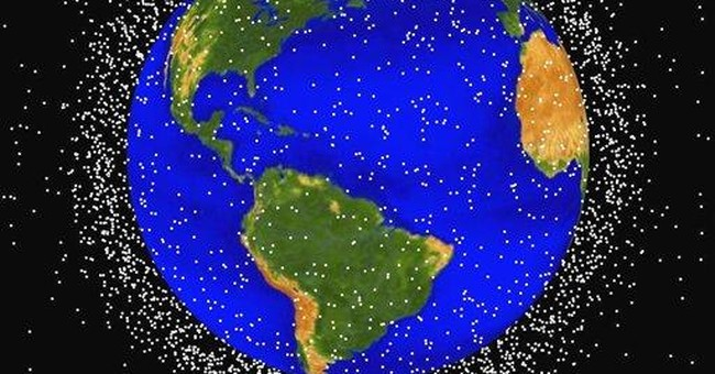 Space junk littering orbit; might need cleaning up