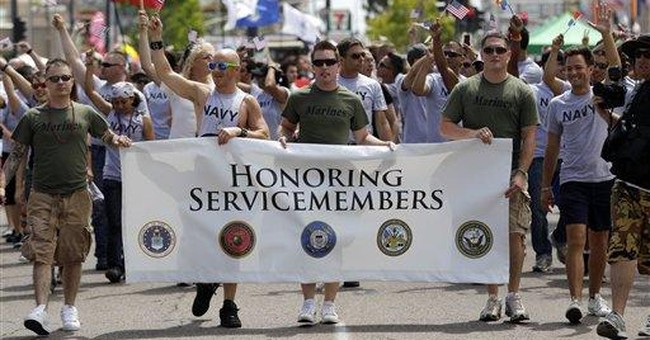 Appeals court hears arguments on gay troop ban