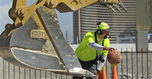 Adults get life-sized sandbox near Las Vegas Strip