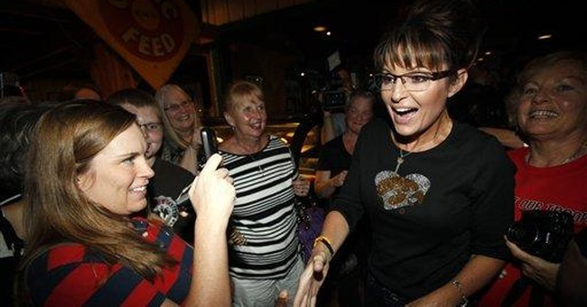 Palin greets supporters at Iowa restaurant