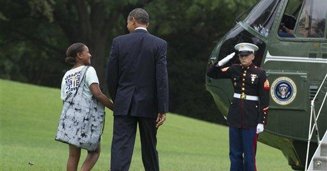Weather forces Obama to switch from chopper