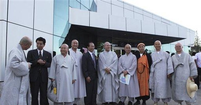 Buddhist monks from 2 Koreas hold joint service