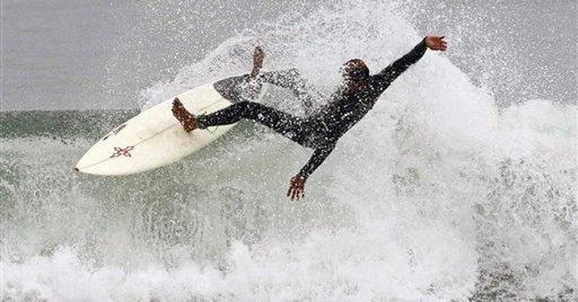 High surf pound Calif. beaches into holiday