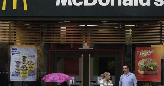 McDonald's begins showing calories on menus in UK