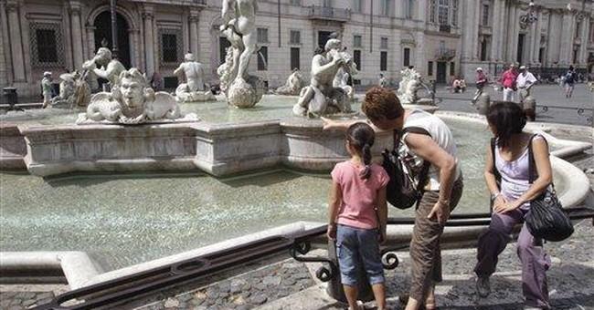 Fountain in Rome's Piazza Navona vandalized