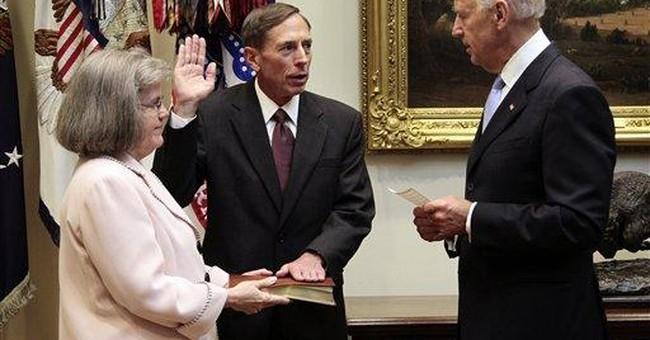 Biden swears in Petraeus as CIA director