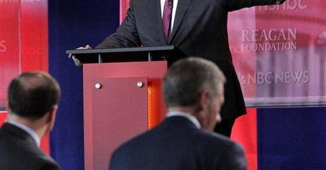 Romney, Perry spar over jobs, Social Security