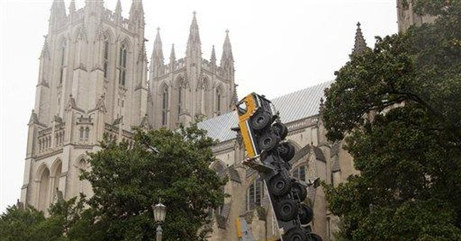 2 workers injured by crane at National Cathedral