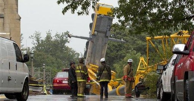 Crane collapses at National Cathedral in DC