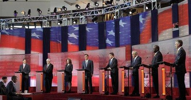 FACT CHECK: Perry, Romney twist records in debate