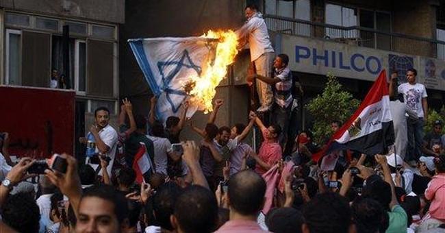 Egyptians break into Israeli Embassy in Cairo
