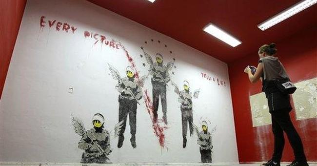 Early Banksy retrieved at Berlin gallery
