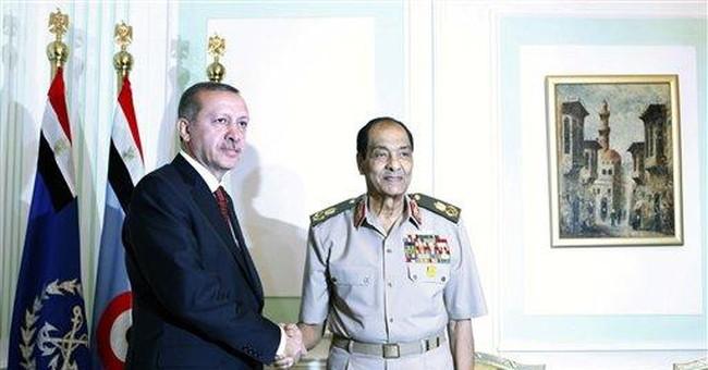 Erdogan presents Turkey as model for Arabs