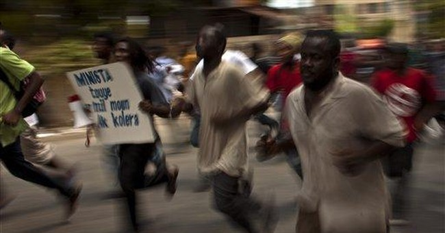 Protesters in Haiti demand ouster of UN troops