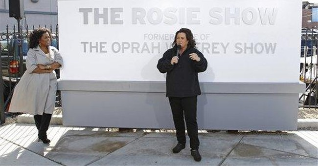 Oprah, Rosie unveil sign outside Chicago studio