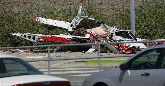 Officials: Plane crashed 1 foot from Utah school