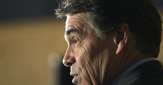 Perry likens Romney health care program to Obama's