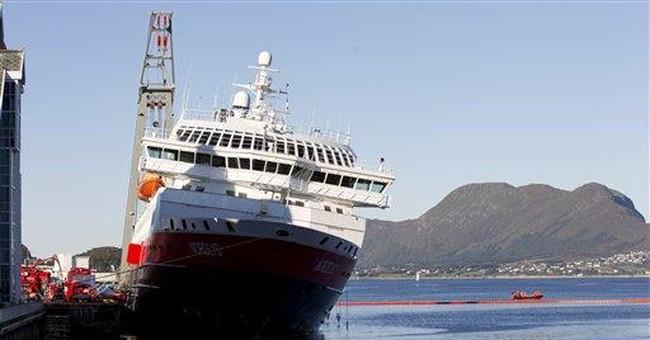Norwegian cruise ship not in danger of capsizing