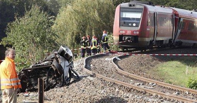 More than 20 injured in German train crash