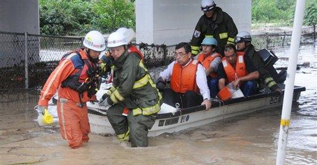 Deadly typhoon leaves Japan; nuclear plant intact