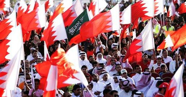 Bahrain protesters clog roads in pre-election act