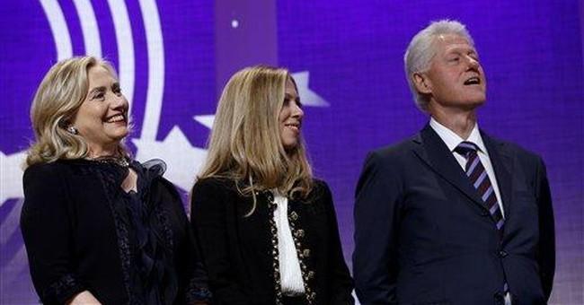 Family reunion as Clinton Global Initiative closes