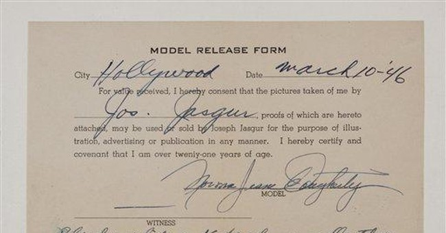 Early Monroe photos, copyrights to sell at auction
