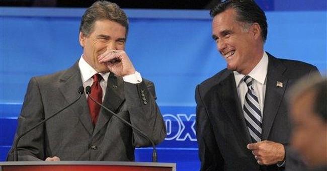 Democrats working to undercut Perry, Romney